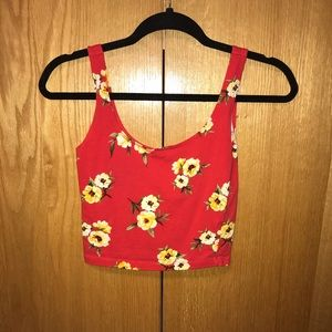 Floral cropped tank